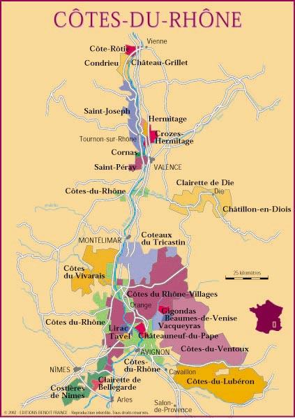 Rhône Valley   Map | Chemins Vignerons