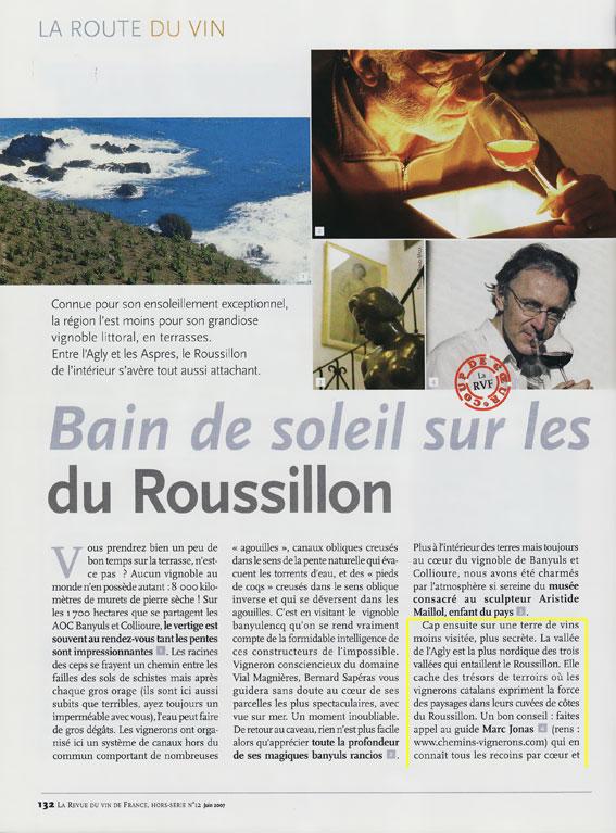 La revue des vins de france hors s rie 2007 2 for Revue des vins de france