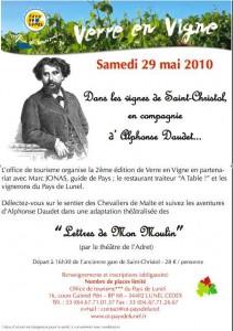 v e v affiche 211x300 Verre en Vigne  : un partenariat entre Chemins Vignerons et le terroir de St Christol