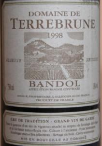 terrebrune1 211x300 Horizontales Bandol 2001 et 1998