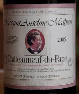 mathieu 254x300 Domaine Mathieu, cuvée Anselme Mathieu 2005 et joue de boeuf