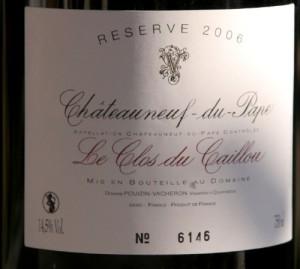 caillou1 300x269 Henri Bonneau 2000, Clos des Papes 2001 et Réserve 2006 du Clos du Caillou côte à côte