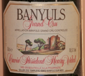 banyuls vidal Banyuls Grand cru H Vidal 1993 et desserts