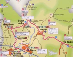 carte terrasselarzac 300x234 Saint Guilhem du désert et les Terrasses du Larzac