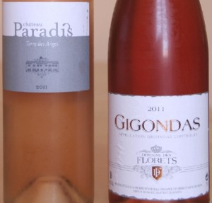 paradis florets 300x287 Coteaux dAix rosé 2011 du Château Paradis versus Gigondas 2001 rosé domaine des Florets