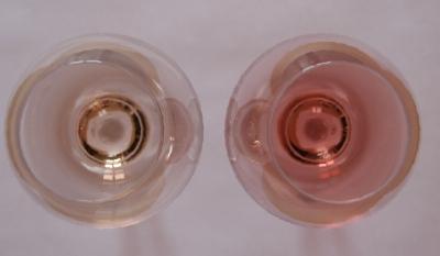 2 types de vins aux couleurs totalement diff rentes gauche un ros de pre - Type de couleur rose ...