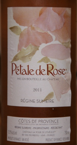 P tale de rose ros de provence du domaine tour l 39 ev que et salade de crevettes chemins - Petale de rose comestible ...