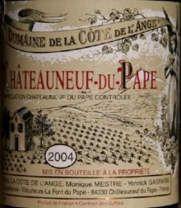 2004ange 261x300 Coq au vin et domaine de la Côte de lAnge 2004.