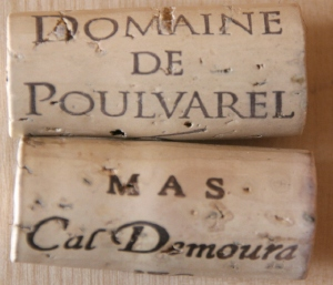 bouchoncaldemoura 2 vins de pays blanc : Cantarelles de Poulvarel versus Etincelle de Cal Demoura