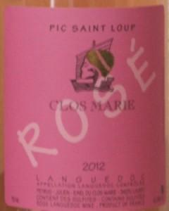 pic rose closmarie 240x300 3 Pic Saint Loup rosé 2012