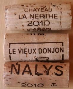 Les bouchons des Châteauneuf 2010