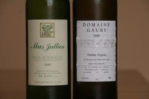 Match en blanc : Mas Jullien versus Domaine Gauby