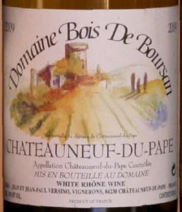 boursan 258x300 Horizontale Châteauneuf du Pape blanc 2009 et fromages