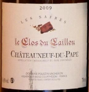 caillou 288x300 Horizontale Châteauneuf du Pape blanc 2009 et fromages