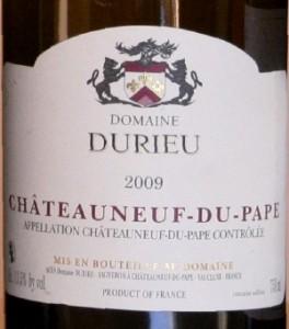 durieu 264x300 Horizontale Châteauneuf du Pape blanc 2009 et fromages