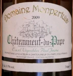 montpertuis 288x300 Horizontale Châteauneuf du Pape blanc 2009 et fromages