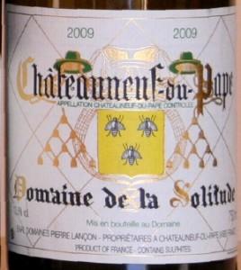 solitude 268x300 Horizontale Châteauneuf du Pape blanc 2009 et fromages