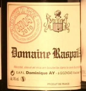 raspail ay2010 283x300 Verticale 6 Gigondas 2010