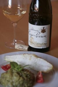 lotte caviar rperrin e1438361971365 200x300 Châteauneuf du Pape blanc Domaine Roger Perrin & lotte rôtie au curry