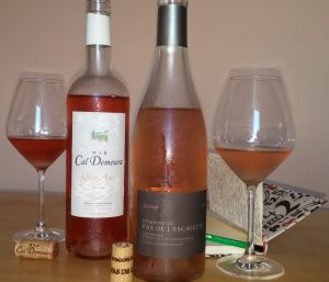 2roses terrasses larzac 300x257 Deux rosés 2017 issus des Terrasses du Larzac
