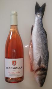 roc loup 174x300 Roc dAnglade rosé 2016 & loup au four
