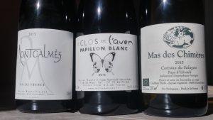 3blanc 300x169 Les vins blanc non AOP près du Larzac
